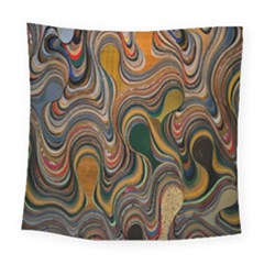 Swirl Colour Design Color Texture Square Tapestry (large) by Simbadda
