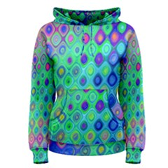 Background Texture Pattern Colorful Women s Pullover Hoodie by Simbadda