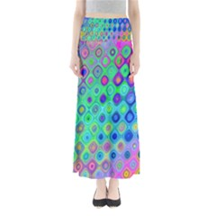 Background Texture Pattern Colorful Maxi Skirts