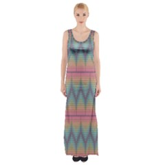 Pattern Background Texture Colorful Maxi Thigh Split Dress by Simbadda