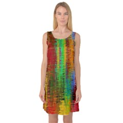 Color Abstract Background Textures Sleeveless Satin Nightdress