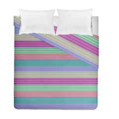 Backgrounds Pattern Lines Wall Duvet Cover Double Side (full/ Double Size) by Simbadda
