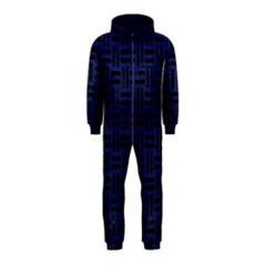Woven1 Black Marble & Blue Leather (r) Hooded Jumpsuit (kids) by trendistuff