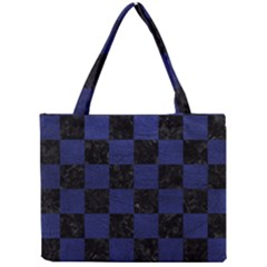 Square1 Black Marble & Blue Leather Mini Tote Bag by trendistuff