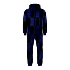 Square1 Black Marble & Blue Leather Hooded Jumpsuit (kids) by trendistuff