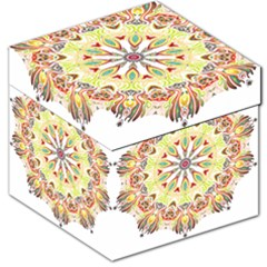 Intricate Flower Star Storage Stool 12   by Alisyart