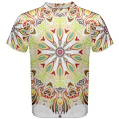 Intricate Flower Star Men s Cotton Tee by Alisyart