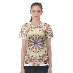 Intricate Flower Star Women s Sport Mesh Tee by Alisyart