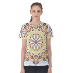 Intricate Flower Star Women s Cotton Tee