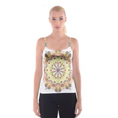 Intricate Flower Star Spaghetti Strap Top by Alisyart