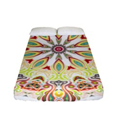 Intricate Flower Star Fitted Sheet (full/ Double Size) by Alisyart
