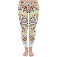 Intricate Flower Star Classic Winter Leggings