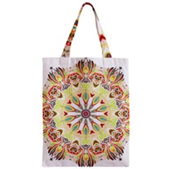 Intricate Flower Star Zipper Classic Tote Bag by Alisyart