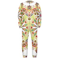 Intricate Flower Star Onepiece Jumpsuit (men)  by Alisyart