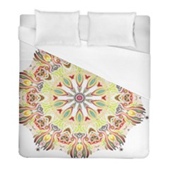 Intricate Flower Star Duvet Cover (full/ Double Size) by Alisyart