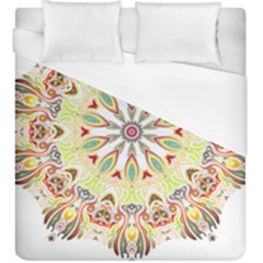 Intricate Flower Star Duvet Cover (king Size) by Alisyart
