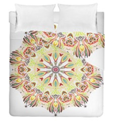 Intricate Flower Star Duvet Cover Double Side (queen Size)