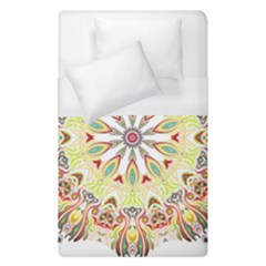 Intricate Flower Star Duvet Cover (single Size) by Alisyart