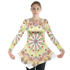 Intricate Flower Star Long Sleeve Tunic