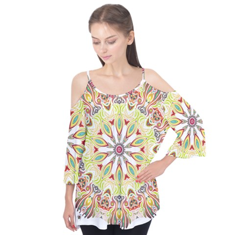 Intricate Flower Star Flutter Tees by Alisyart