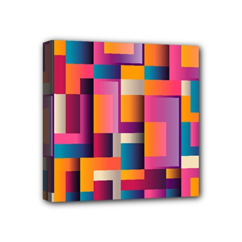 Abstract Background Geometry Blocks Mini Canvas 4  X 4