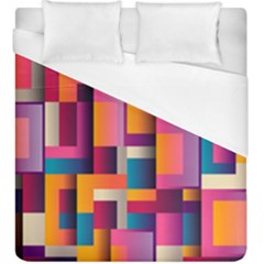 Abstract Background Geometry Blocks Duvet Cover (king Size) by Simbadda