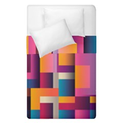Abstract Background Geometry Blocks Duvet Cover Double Side (single Size)