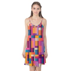 Abstract Background Geometry Blocks Camis Nightgown by Simbadda
