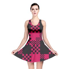 Cube Square Block Shape Creative Reversible Skater Dress
