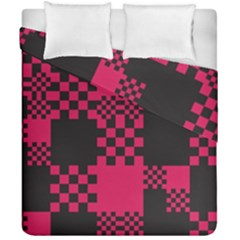 Cube Square Block Shape Creative Duvet Cover Double Side (california King Size) by Simbadda