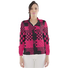 Cube Square Block Shape Creative Wind Breaker (women) by Simbadda