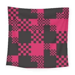 Cube Square Block Shape Creative Square Tapestry (large) by Simbadda