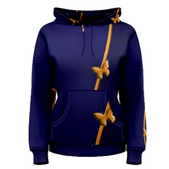 Greeting Card Invitation Blue Women s Pullover Hoodie