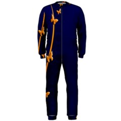 Greeting Card Invitation Blue Onepiece Jumpsuit (men)  by Simbadda
