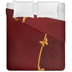 Greeting Card Invitation Red Duvet Cover Double Side (california King Size)