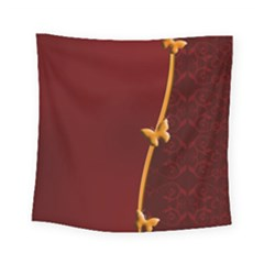 Greeting Card Invitation Red Square Tapestry (small) by Simbadda