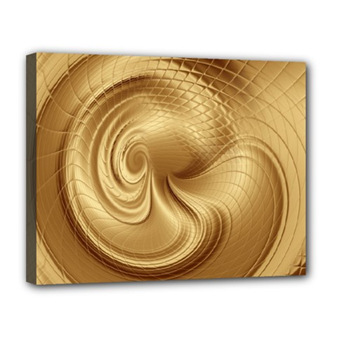 Gold Background Texture Pattern Canvas 14  X 11  by Simbadda
