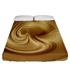 Gold Background Texture Pattern Fitted Sheet (queen Size) by Simbadda