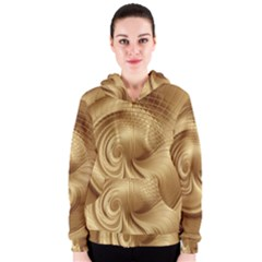 Gold Background Texture Pattern Women s Zipper Hoodie by Simbadda