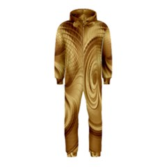 Gold Background Texture Pattern Hooded Jumpsuit (kids) by Simbadda