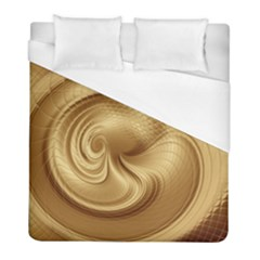Gold Background Texture Pattern Duvet Cover (full/ Double Size) by Simbadda