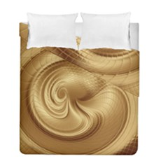 Gold Background Texture Pattern Duvet Cover Double Side (full/ Double Size) by Simbadda