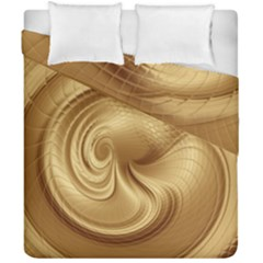 Gold Background Texture Pattern Duvet Cover Double Side (california King Size) by Simbadda