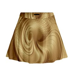 Gold Background Texture Pattern Mini Flare Skirt by Simbadda