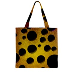 Background Design Random Balls Zipper Grocery Tote Bag by Simbadda