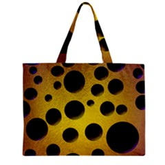 Background Design Random Balls Zipper Mini Tote Bag by Simbadda