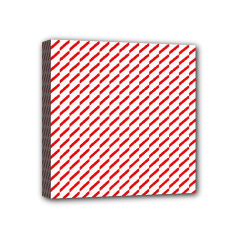 Pattern Red White Background Mini Canvas 4  X 4  by Simbadda
