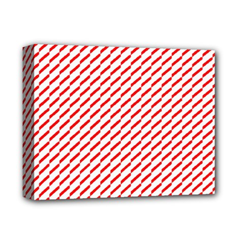 Pattern Red White Background Deluxe Canvas 14  X 11  by Simbadda