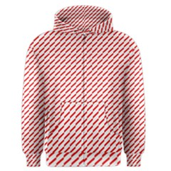 Pattern Red White Background Men s Zipper Hoodie by Simbadda