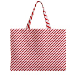 Pattern Red White Background Zipper Mini Tote Bag by Simbadda